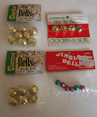 4 Lots Of  Jingle Bells - 2 Darice , Alderbrook, Buttoncraft - Original Packages