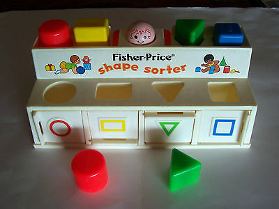 1974 Fisher Price Shape Sorter - Complete With 2 Extra Blocks