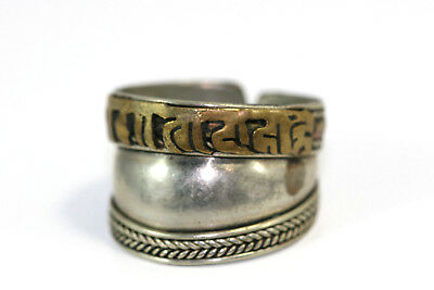 "D248 Hieroglyphic Band Ring Sterling 4.3g 925 top 5/8"" wide Size 6"