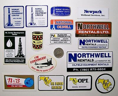 16 Oilfield Hard Hat Stickers / Oil & Gas Services Assorment