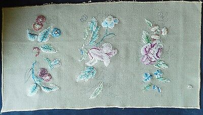 Vintage Tapestry Cover / Stool Cover / Kneeler - Transfer Printed Part Completed