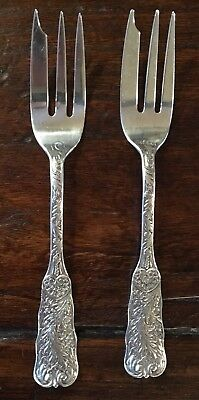 Saint Cloud By Gorham Sterling Silver cake fork (2) 3 tine