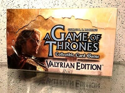A GAME OF THRONES CCG - Valyrian Edition Booster box Sealed -George R. R. - RARE