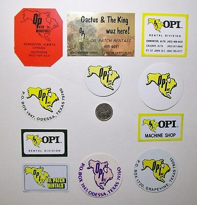 11 Oilfield Hard Hat Stickers / Opi Ltd.