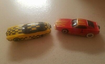 Pair Of Vintage Tyco HO Scale Funny Car Slot Cars Parts Only
