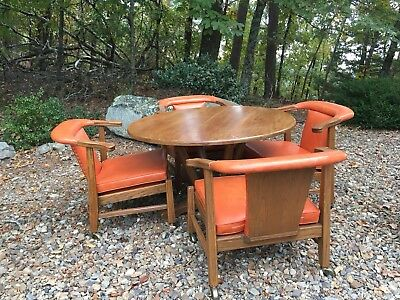Brandt Ranch Oak Game Table & 4 Chairs