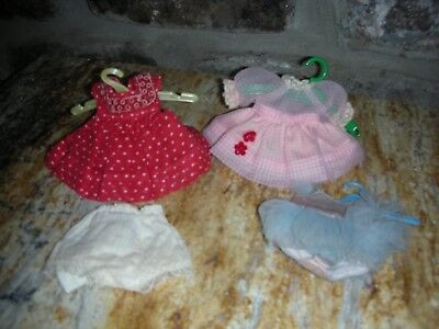 NR Vintage Nancy Ann Storybood Doll Muffie Clothes Pink Dress Tagged Blue Tutu
