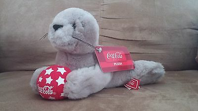 Plush Toy Coca Cola Gray Seal Special Beverly Hills Collection RARE