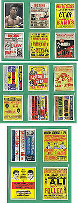 Cassius Clay (Muhammad Ali) The Early Jahre Fight Poster Trading Card Set Aka