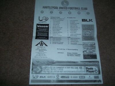 2017/18 Hartlepool United V Fc Halifax Town Fa Youth Cup 3Rd Round Q 18 Oct 2017