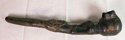Antique African Wood Pipe Hand Carved