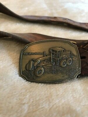 Brass Cat Belt Buckle And Leather Belt