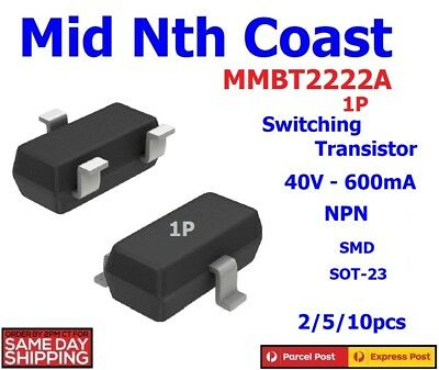 MMBT2222A BT2222A 1P 40V 600mA General Purpose Transistor SMD SOT-23