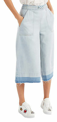 Sea New York New with Tags Washed Out Denim Culottes Blue