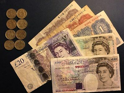 LOT Bank of England, over 54 Pounds, Banknotes and Coins, NO RESERVE!!!