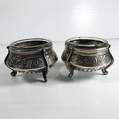 Antique Russian Silver Salt & Pepper Cellers Pots 110Mmet & 010Mmet Ulb30K