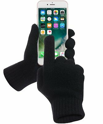 Gloves Touch Thermal Screen Winter Warm Driving mens Black finger-thumb women uk