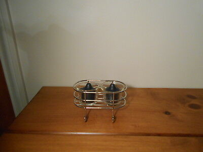 Partylite Set of Silver and Glass votive or tealight holders