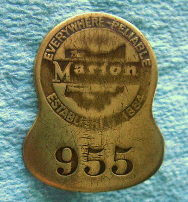 Collectible Employee Badge: MARION STEAM SHOVEL; Marion OH; Construction Equip
