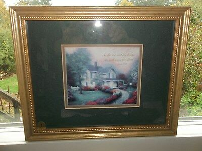 Thomas Kinkade Home Is Where The Heart Is.framed print from 1998