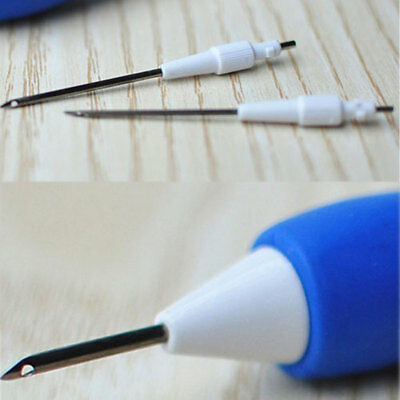 1.3/1.6/2.2mm Magic Embroidery Pen Clothing Punch Needle Funny Weaving Tool UK