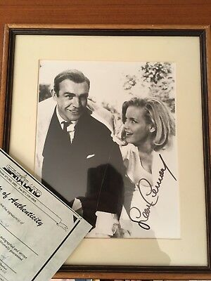 James Bond Sean Connery Authentic Signed Autograph Mounted And Framed. With Cert