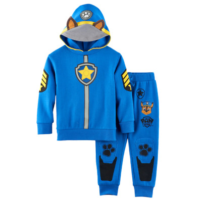 NEW Paw Patrol Toddler Boys Sweater Sweatpants Jacket Chase Blue Size 2T 3T 4T