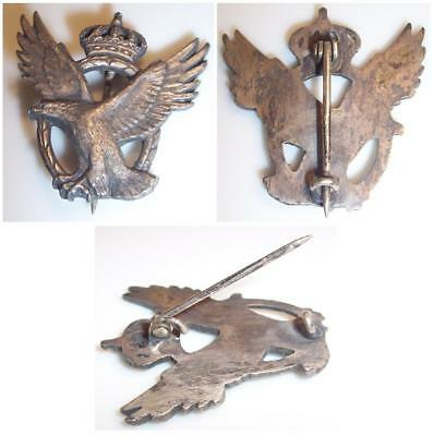 VINTAGE WWI STERLING BRITISH ARMY AIR CORP Eagle/Crown PILOT BADGE PIN BACK WW1