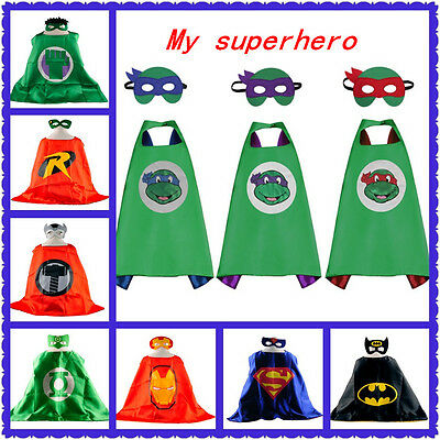 HOT Superhero Cape (1 cape+1 mask) for kids birthday party favors and ideas Gift