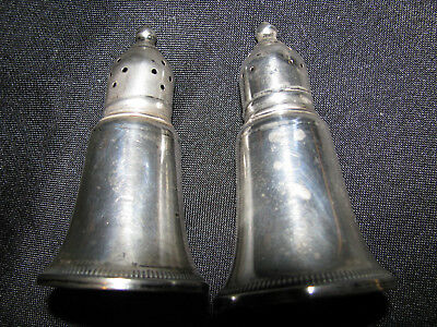 VTG Duchin Sterling Silver Salt And Pepper Shakers with Glass Inserts