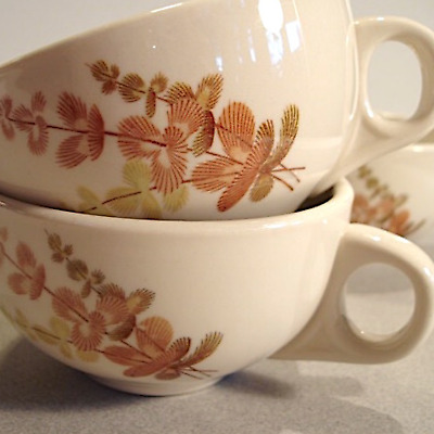 VINTAGE SET Lot 5 MAYER CHINA RESTAURANT WARE COFFEE CUPS SHASTA Autumn PERFECT