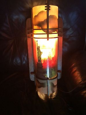 Very Rare New York 1920s sky line MOTION LAMP RARE limited