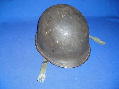 US WW II M1 Helmet Made By Schlueter  Large S with code 489A Under Front Brim