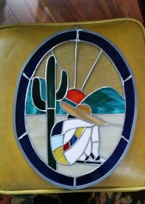 Stained Glass Window Architectual Hanging - Afternoon Siesta
