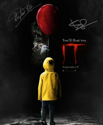 "Stephen King Bill Skarsgard Signed Poster Photo 8X10 Rp Autographed "" It """