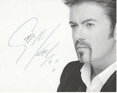 George Michael Signed Photo 8X10 Rp Autographed Cd Wham !