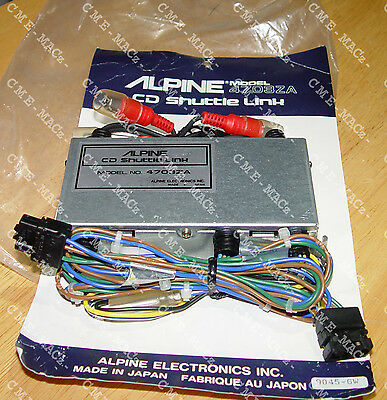 ////ALPINE 4703ZA CD SHUTTLE LINK CD CHANGER DIRECT CONNECT EARLY MERCEDES to EQ