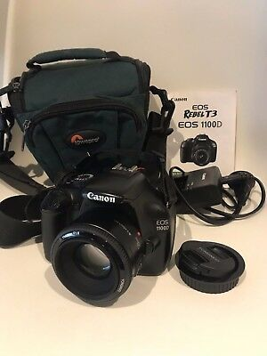 Canon EOS 1100D 12MP DSLR Camera kit, 50mm Lens hardly used, excellent condition