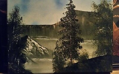 """Orginal oil painting unframed 11××14"""" from a self tought listed artist"""