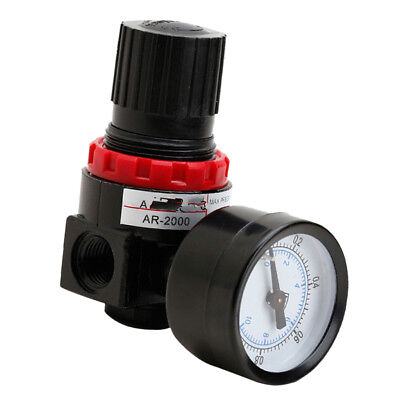 "1/2"" Air Brush Filter Pressure Regulator Gauge In Line Compressor AR2000"