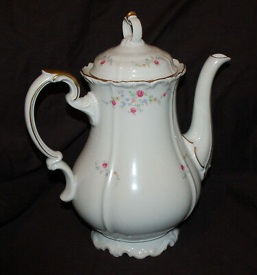 One Edelstein Brighton Scalloped 6 Cup Coffee Pot  Good Shape