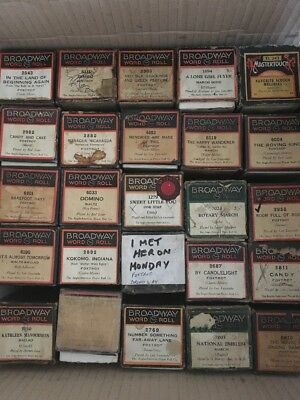 25 Broadway Pianola Rolls - all in boxes - Antique Player Piano Rolls