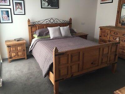 Bedroom Suite - Made in Mexico - Solid Timber - 5 Pieces