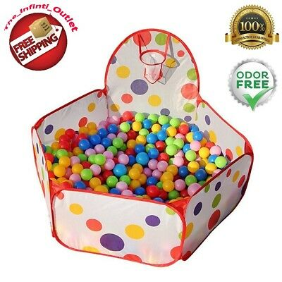 Kids Ball Pool Ball Pit House Hideaway Pop-Up Play Tent Cubby House Outdoor Play