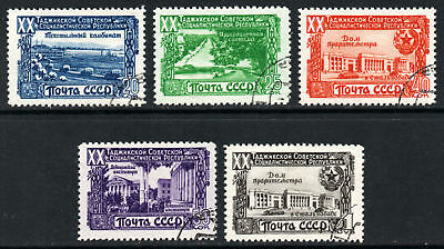 Russia Scott 1420-1424 20th Anniversary Tadzhik Republic 1949 Issue Used