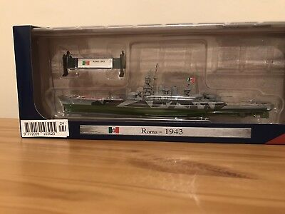 WARSHIPS OF WWII MODEL COLLECTION : Roma - 1943 - BOXED MINT - 1:1000