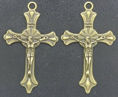 wholesale Fashion Exquisite Ancient Bronze Cross Shelf Charms Necklace pendant