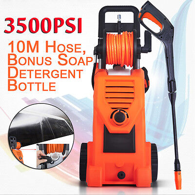 3500PSI Electric High Pressure Washer Water Cleaner Gurney Pump Hose Clean Spray
