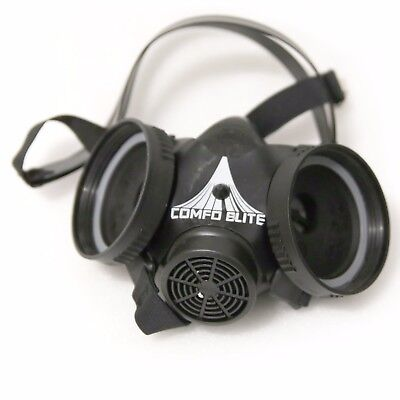 MSA Comfo Elite II Twin Half-Mask Respirator Facepiece 225515S SMALL