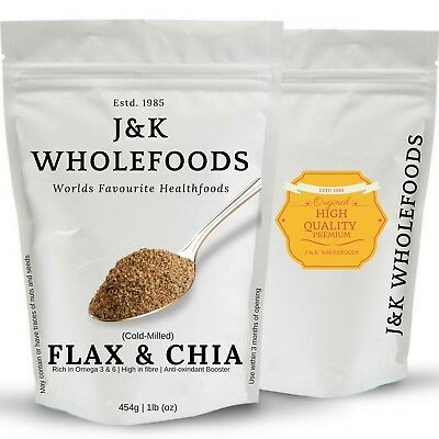 J&K Wholefoods | Cold-Milled Organic Flaxseed & Chia Seed Blend | 100g/500g/1kg